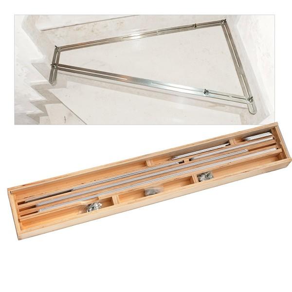 Winkelschablone | Treppen-Schablone | Treppenlehre im Holzkoffer