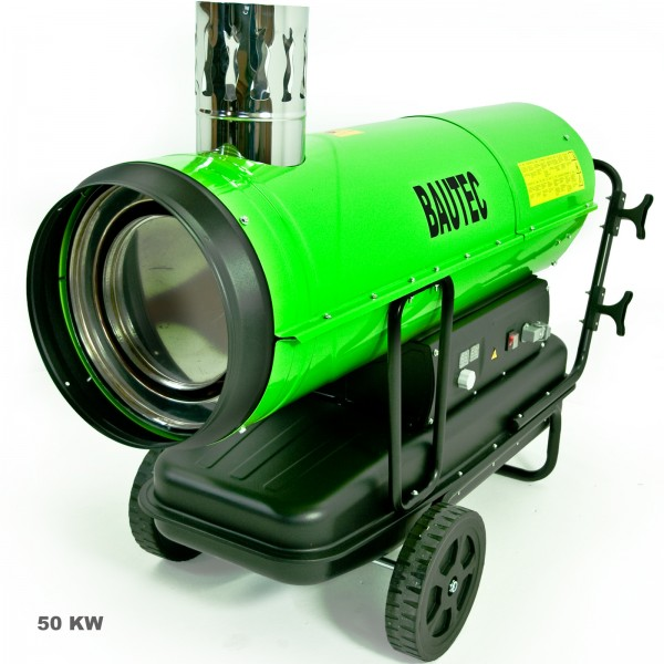Heizkanone | Ölheizer 50 kW | Dieselheizer mit Kamin