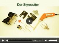 Styrocutter 190W | Aussetzbetrieb | Styroporhandschneider mit Klingen - verschiedene Zubehör-Sets