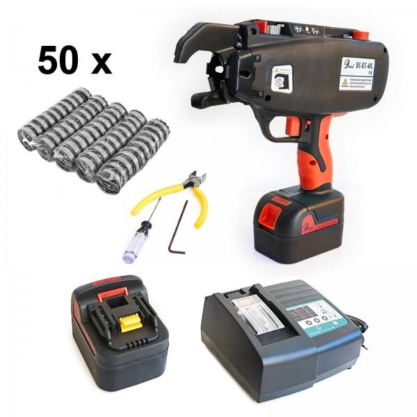 Drahtbindemaschine RE-Bar RT 40L + 2 Akkus + 50 Bindedrahtrollen | Akku Drahtbinder