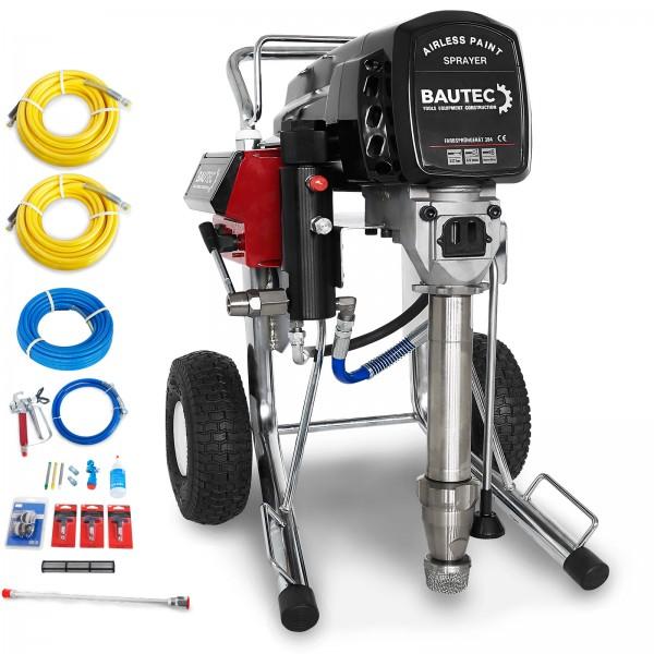 BAUTEC Farbspritzgerät mit elektrischer Kolbenpumpe | Farbsprühgerät
